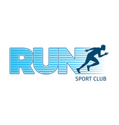Running sportsman on white background sport club vector