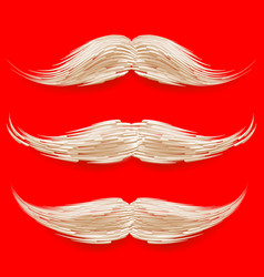 santa s mustache christmas realistic white vector image vector image