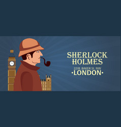 Sherlock holmes poster detective vector