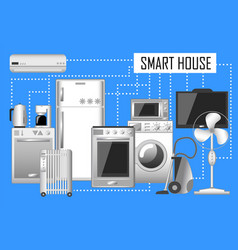 Smart house set of electronic vector