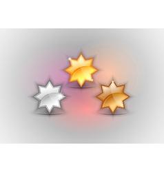 three stars vector image