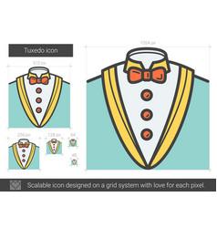 Tuxedo line icon vector