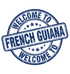 Welcome to french guiana vector