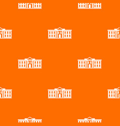 white house usa pattern seamless vector image