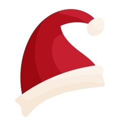 Santa hat icon cartoon style vector image