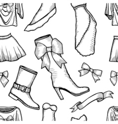 Female fashion collection vector