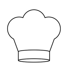 Contour of chefs hat in crown shape vector