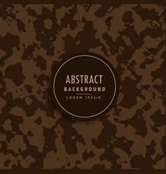 Abstract camouflage pattern in brown shade vector