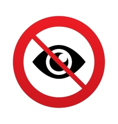 No look eye sign icon publish content button vector