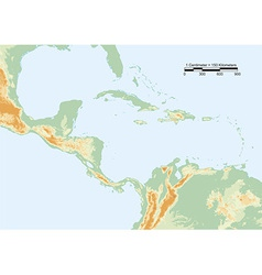 Central america physical vector