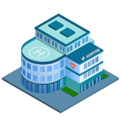 Hospital building isometric vector