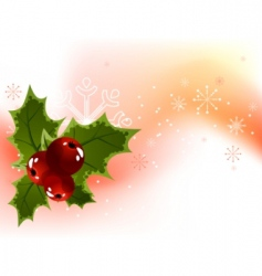 Christmas holly berry background vector