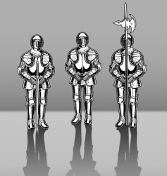 Knights in armor vector