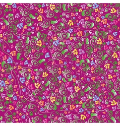 Color floral seamless pattern vector