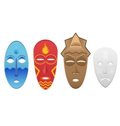 4 elemental masks vector image vector image