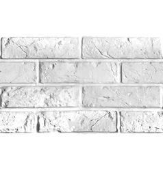 Seamless pattern of white brick wall vector