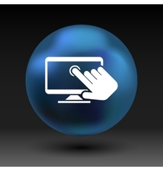 Touch screen icon display finger tap vector