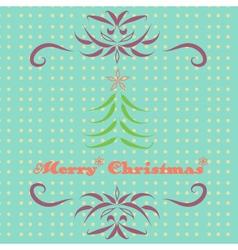 Merry christmas retro card vector