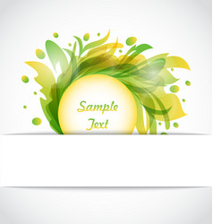 Eco floral transparent frame vector