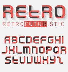Abstract font latin alphabet letters typography vector
