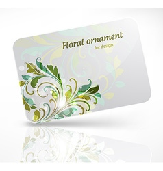 Gift card with floral design vector