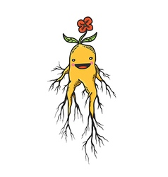 Mandrake roots hand drawn character vector