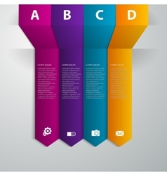 Infographics band arrow vector