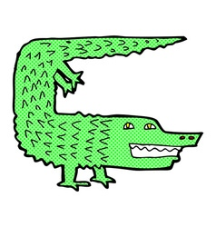 Comic cartoon crocodile vector