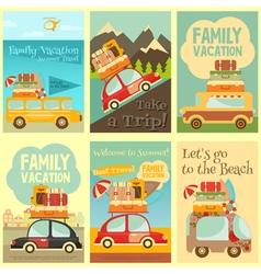 Travel posters set vector