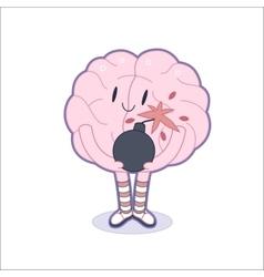 Boom brain vector image