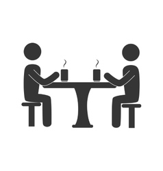 Meeting table drinks icon vector