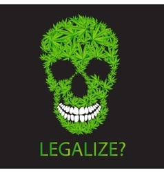 Abstract Cannabis Skull vector image