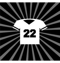 American football tshirt vector