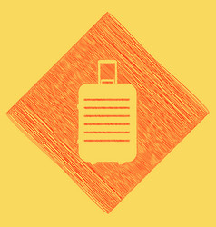 Baggage sign red scribble vector