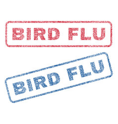 bird flu textile stamps vector image