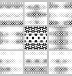 Black and white curved shape pattern design set vector