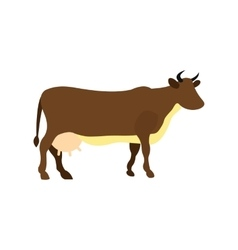 Brown cow icon vector