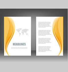 business brochure flyer template vector image