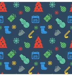 Christmas icons vector image