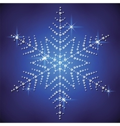 Christmas snowflake on a blue background vector image