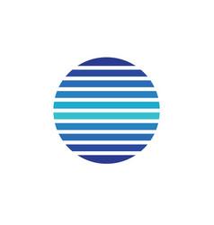 circle line logo vector image