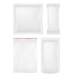 Collection of various plastic bags on white vector
