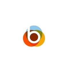 Color letter b logo icon design vector image vector image