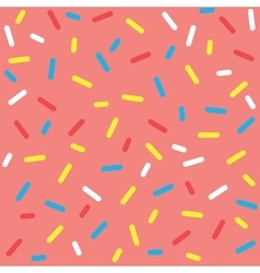 Colorful Donut Glaze Seamless Pattern vector image