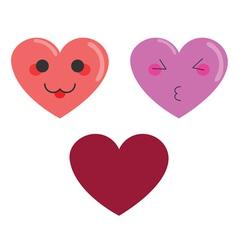 Cute hearts vector image