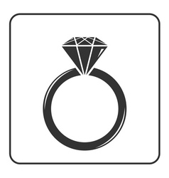 Diamond engagement ring icon 7 vector image vector image