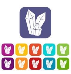 Diamonds icons set vector