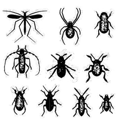 Dirty insect set vector image vector image