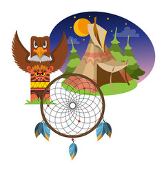 Dreamcatcher indians talisman objects of magic vector