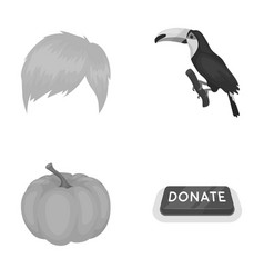 Fashion vegetable and other monochrome icon in vector